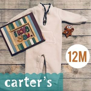 Carter's 12 Month Fuzzy Bodysuit Cream with Pocket